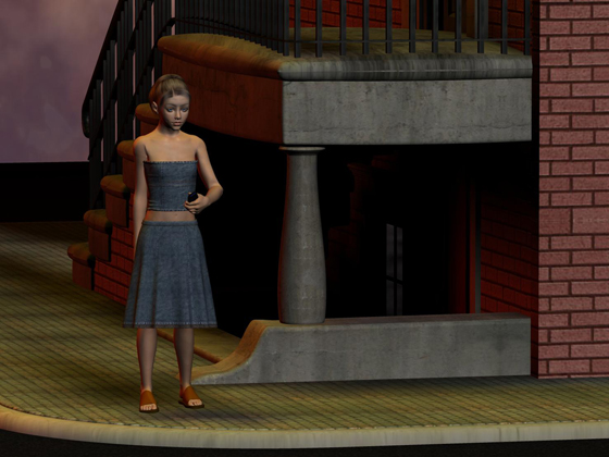 Anorexia waits for her ride from Cobra...